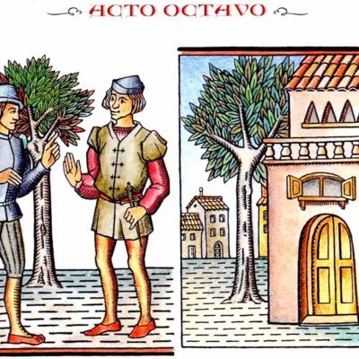 Primera ilustración del acto VIII de la edición de Madrid, 2005