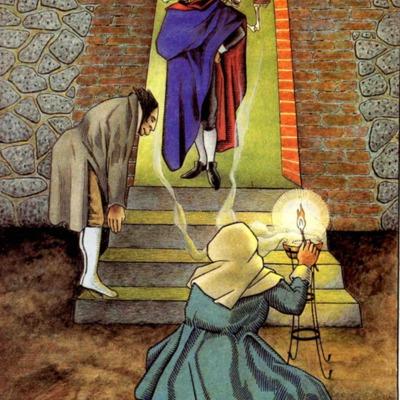 Primera ilustración del acto III de la edición de Madrid, 2005