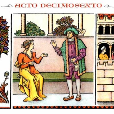 Ilustración del act XVI de la edición de Madrid, 2005