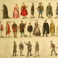 Figurines de Los polvos de la madre Celestina, de Mestres (1868)