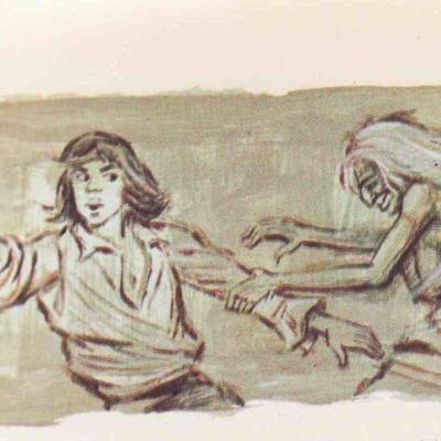 Ilustración tercera del acto I de la edición de Barcelona (1968)