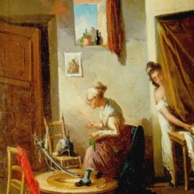 Joven y Celestina, de Alenza y Nieto (1840, c.)