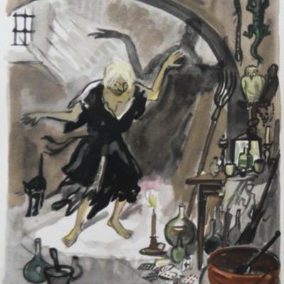 Ilustración tercera del  Acto I de la edición de París (1976)