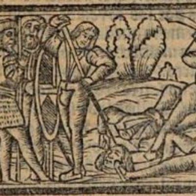 Grabado del acto XIII de la edición de Venecia (1534)