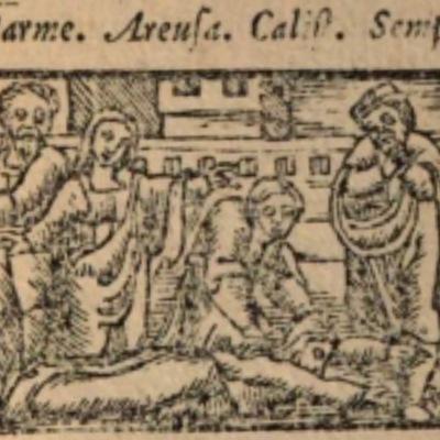 Imagen del acto VIII de la edición de Salamanca (1590)