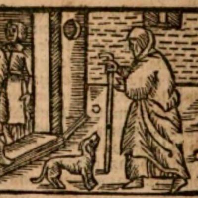 Ilustración del acto V de la edición de Estella (1557)