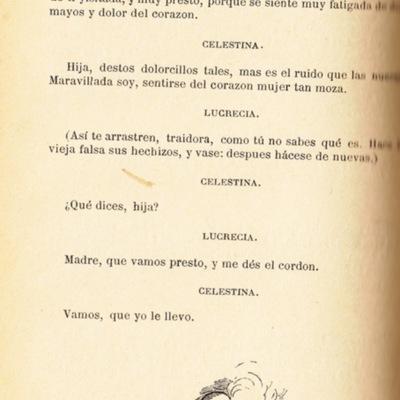 Ilustración segunda del acto IX de la edición de Barcelona (1883)