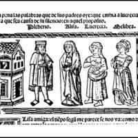 Grabado del acto XVI de la edición de Valencia (1514)