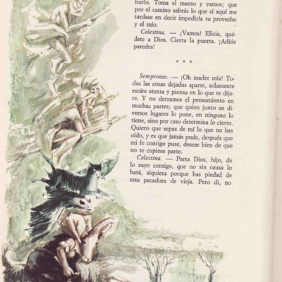 Ilustración cuarta del acto I de la edición de Barcelona (1968)