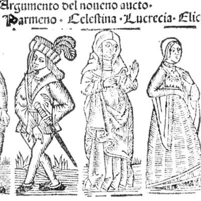 Ilustración del acto IX de la edición de Roma: Marcelo Silber, 1515 (colofón Stanislao Polono, Sevilla, 1502)
