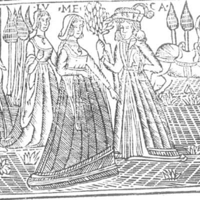 Ilustración de la Portada de la edición de Roma: Marcelo Silber, 1515 (colofón Stanislao Polono, Sevilla, 1502)