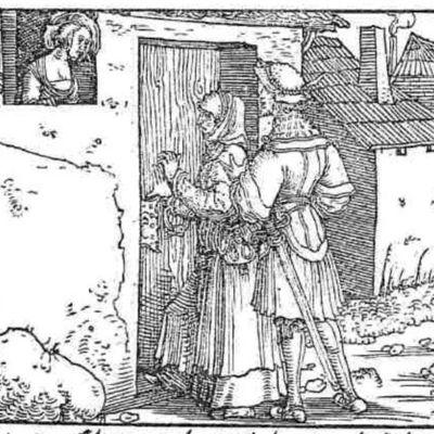 Grabado del acto III de la edición de Augsburg (1520)