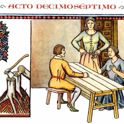 Primera ilustración del acto XVII de la edición de Madrid, 2005