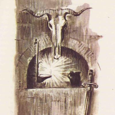 Ilustración segunda del acto IV de la edición de Barcelona (1968)