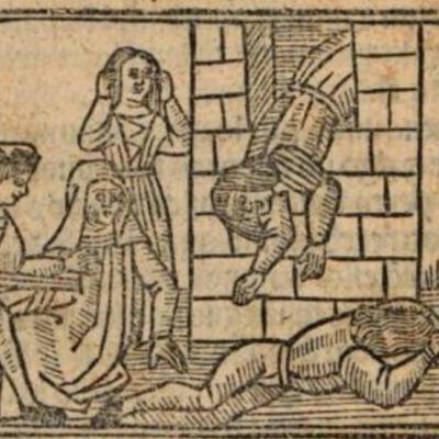 Imagen segunda del acto XII de la edición de Burgos (1531)