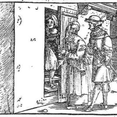 Grabado del acto V de la edición de Augsburg (1520)