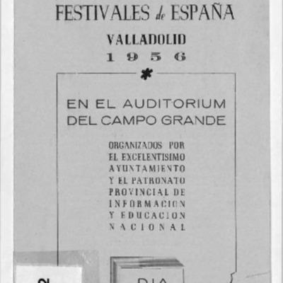 Representación del Auditorio del Campo Grande, Valladolid, 1956