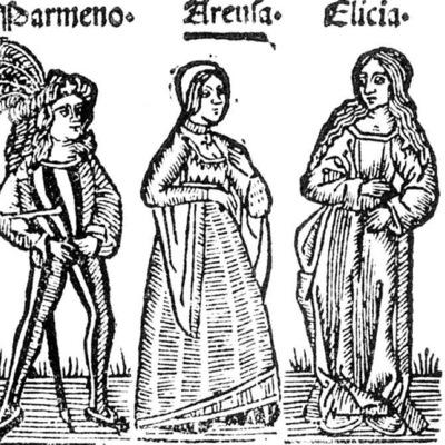 Ilustración del acto VII de la edición de Roma: Marcelo Silber, 1515 (colofón Stanislao Polono, Sevilla, 1502)