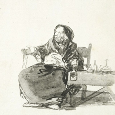 La madre Celestina, de Goya (1819, c.)