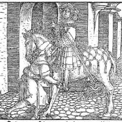 Grabado (segundo)  del acto II de la edición de Augsburg (1520)