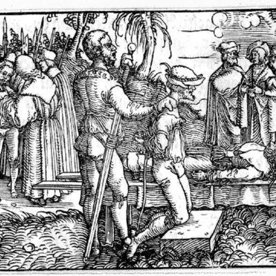 Grabado del acto XIII de la edición de Augsburg (1520)