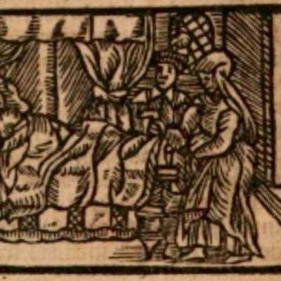 Ilustración del acto VII de la edición de Estella (1557)