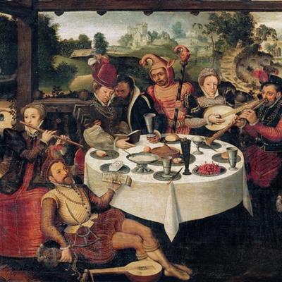 El hijo pródigo entre cortesanas, de Pourbus el Viejo (1580, c.)