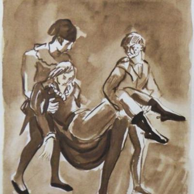 Ilustración segunda  del acto XIX de la edición de París (1976)