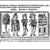 Grabado del acto II de la edición de Valencia (1514)
