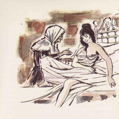 Ilustración primera del acto VII de la edición de Barcelona (1968)
