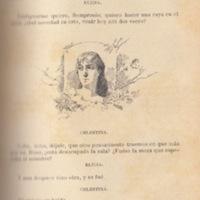 Ilustración primera del acto III de la edición de Barcelona (1883)