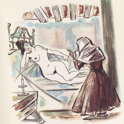 Ilustración tercera del acto VII de la edición de Barcelona (1968)
