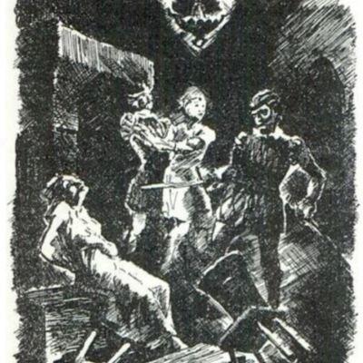 Ilustración cuarta del acto XII de la edición de París (1989)