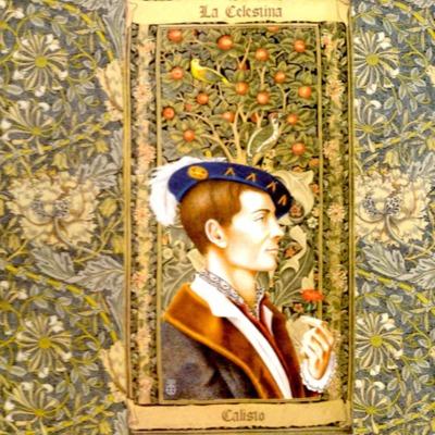 Primera ilustración, de Calisto, la encuadernación de la edición de Madrid, 2005