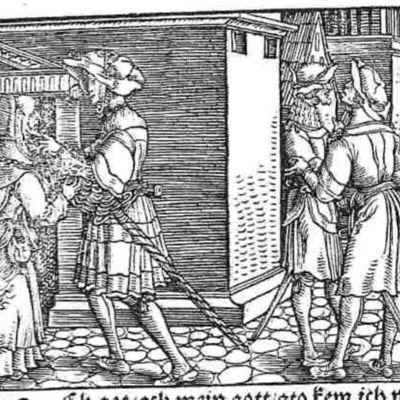 Grabado del acto XI de la edición de Augsburg (1520)