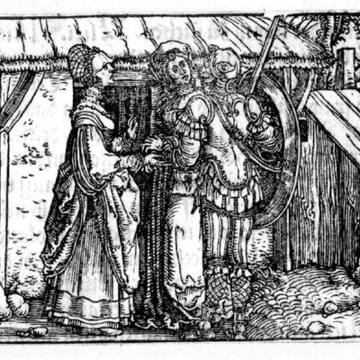 Grabado del acto XVIII de la edición de Augsburg (1520)