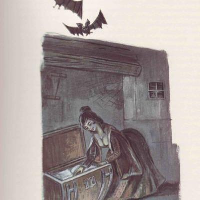 Ilustración primera del acto III de la edición de Barcelona (1968)