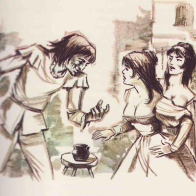 Ilustración segunda del acto XIX de la edición de Barcelona (1968)