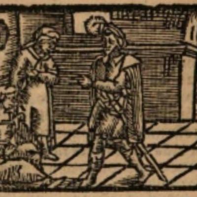 Ilustración del acto XV de la edición de Estella (1557)