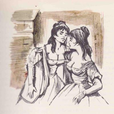 Ilustración segunda del acto XV de la edición de Barcelona (1968)