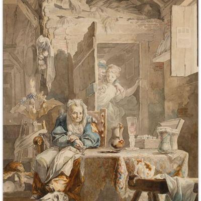 La Celestina y los enamorados, de Paret (1784)