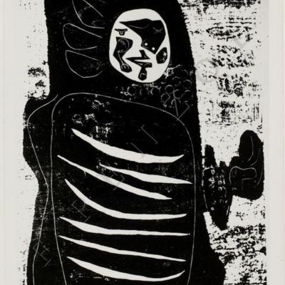 La Celestina, grabado de Seoane (1950, c.)