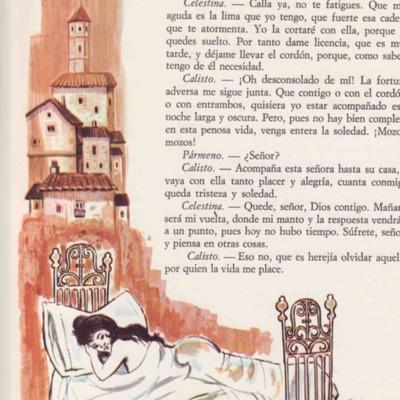 Ilustración cuarta del acto VI de la edición de Barcelona (1968)