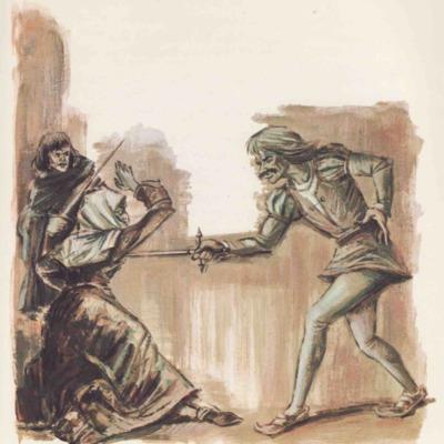 Ilustración tercera del acto XII de la edición de Barcelona (1968)