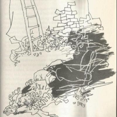 Ilustración de la muerte de Calisto de la edición de Budapest (1979)