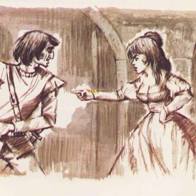 Ilustración primera del acto XV de la edición de Barcelona (1968)