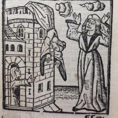 Grabado del XXI acto de la edición de Valencia, 1575