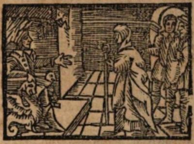 Ilustración del acto VI de la edición de Estella (1557)