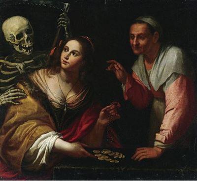 Vanitas, alegoría de las edades, de Martinelli (1650 c.)