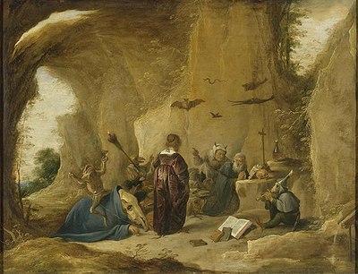 Las tentaciones de San Antonio, de Teniers (1640 c